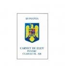 Carnet elev IX-XII