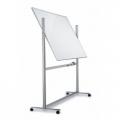 Whiteboard magnetic rotativ cu 2 fete 90x150 cm pe stand